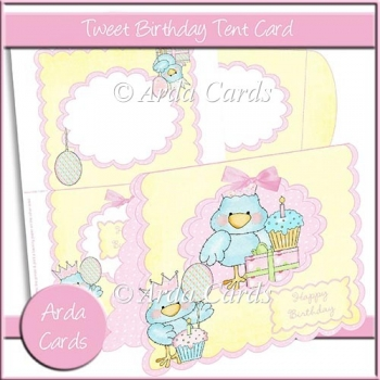 Tweet Birthday Tent Card