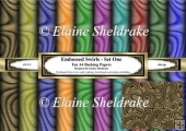 Embossed Swirls - Ten A4 Printable Backing Paper Set