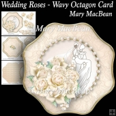 Wedding Roses - Wavy Octagon Card