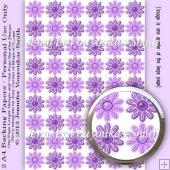 2 A4 Papers-2 Coloured Flowers Set 01-09