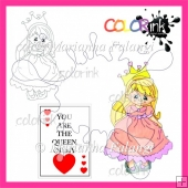Queen Mary and sentiment digital stamps