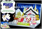 Mr & Mrs Christmas Loading The Sleigh - 3D Pop Up Card Kit