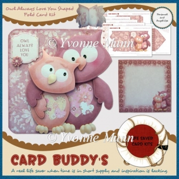 Owl Always Love You Shaped Fold Card Kit