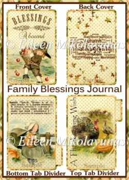 Family Blessings Journal Mini Book Kit