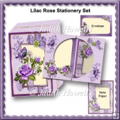 Lilac Rose Stationery Set