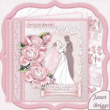 BRIDE & GROOM 1ST DANCE Wedding Day 8x8 Decoupage Kit