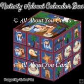 Nativity Advent Calendar Box