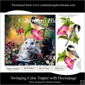 Swinging Cutie Topper with Decoupage