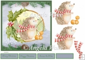 Christmas hedgehog is a 7x7 card