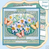 DAFFODILS & BUTTERFLIES All Occasions Quick Card & Insert Kit