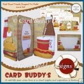 Fast Food Treats Shaped Tri Fold Card Kit