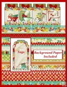 Mason Jar Farmhouse Tag Booklet Card Kit