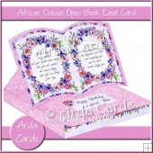 African Daisies Open Book Easel Card