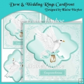 Dove & Wedding Rings Cardfront