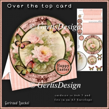 Over the Edge Round Card Kit vintage soft rose