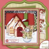 Christmas House & Snowman 7.5 Decoupage & Insert Kit