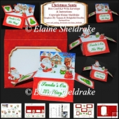 Christmas Santa Box Card Kit With Envelope & Instructions