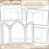 Church Door Card & Envelope Template Commercial Use