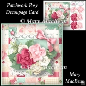 Patchwork Posy Decoupage Card Front