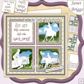 HORSE RIDING SQUARES 7.5 Quick Layer Card & Insert Kit