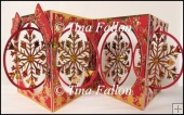 Accordian Christmas Snowflake Card - multi cut file formats