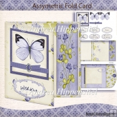 Asymmetric Fold Card purple Butterfly