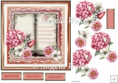 Hydrangea book and verse 7x7 card