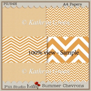 Free Sample of Summer Chevrons Papers