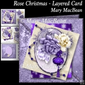 Rose Christmas - Layered Card