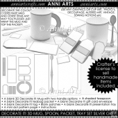 Decorate It! Blank 3D Mug Sets: Neutral Grey