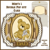 Men's 1 Double Pop Out Card