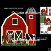 Farm Animals Shaped Card