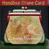 Handbag Shape Card christmas 2