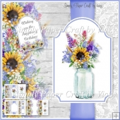 Mason Jar of Flowers 6