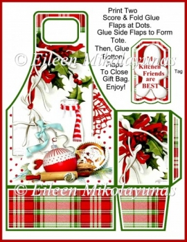 Christmas Baking Tote and Tag Set