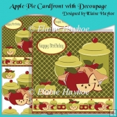 Apple Pie Cardfront with Decoupage