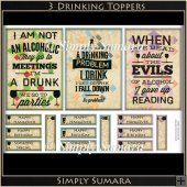 3 Drinking Toppers