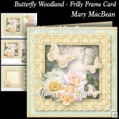 Butterfly Woodland - Frilly Frame Card