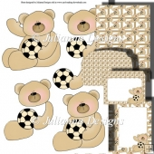 Sporting Teddy 2 Decoupage Set