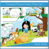 Woodland Princess Double Z Fold Card