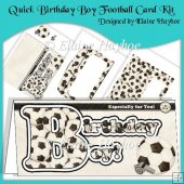Quick Birthday Boy Football Card Kit