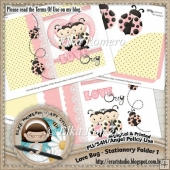 Love Bug - Stationery Folder 1 (5 x 7 in)