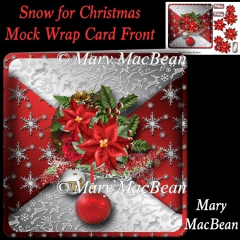 Snow for Christmas Mock Wrap Card Front
