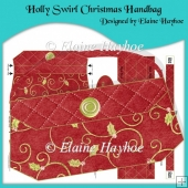 Holly Swirl Christmas Handbag