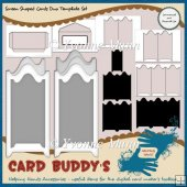 Screen Shaped Cards Duo Template Set � CU/PU