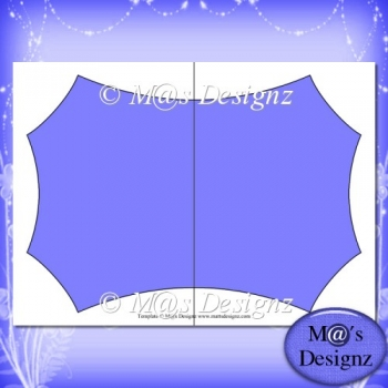 Shaped Card Template 4