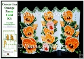 Concertina Orange Peach Pansy Over the Edge Card Kit & Bookmarks