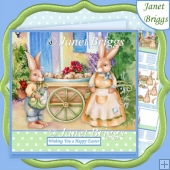 EASTER HOT CROSS BUNS 7.5 Decoupage & Insert Mini Kit