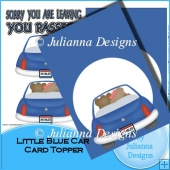 Little Blue Car Card Front/Topper