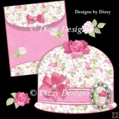 Romance Roses Cloche Hat Card